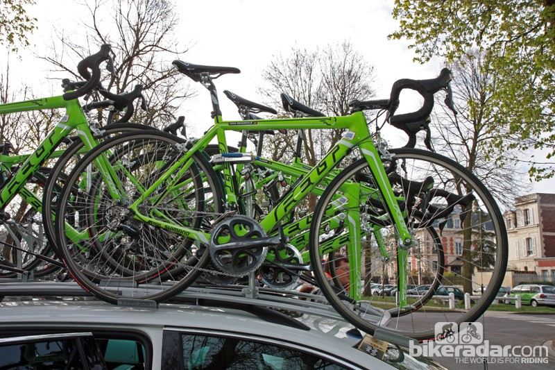 All of the Argos-Shimano riders used Felt's specially modified F1 frames at Paris-Roubaix