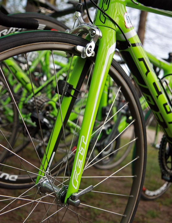 Longer fork blades yield more clearance under the crown and slacken the angles for more stable handling