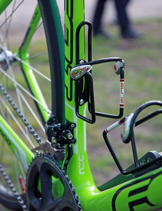 Elite Ciussi alloy cages for Argos-Shimano at Paris-Roubaix