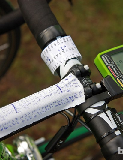 This Argos-Shimano rider needs more room for his course notes