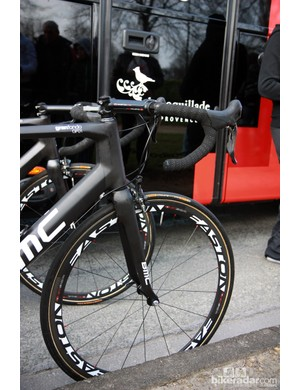 BMC's Easton EC90 SL carbon tubular wheels have now proven themselves durable enough for the cobbles.