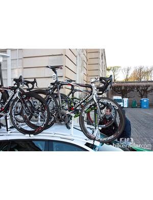 Europcar riders used Colnago's Cross Prestige chassis for Paris-Roubaix.