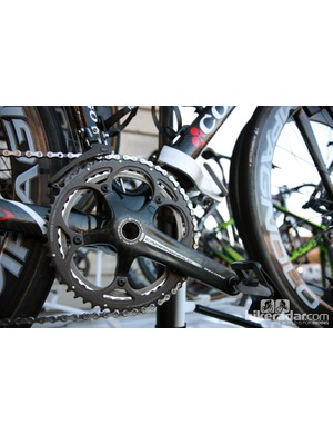 Europcar's 53/44T chainrings are typical for Paris-Roubaix.