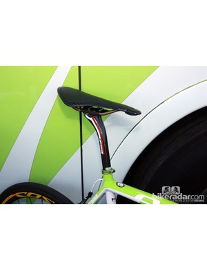 Liquigas-Cannondale rider Ted King opted for fi'zi:k's new Kurve saddle at Paris-Roubaix.