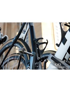 Paris-Roubaix edition Speedplay Zero pedals and Trek BAT cages for Radioshack-Nissan-Trek team leader Gregory Rast.