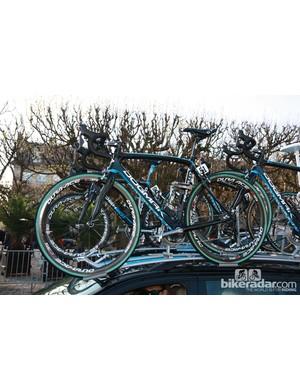 Juan Antonio Flecha's (Sky) Pinarello Dogma K for Paris-Roubaix.
