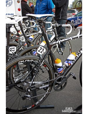Giant says the integrated seatmast design of Rabobank's Defy Advanced SL machines for Paris-Roubaix was necessary to get the desired amount of flex.