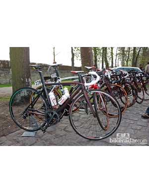 Most of the Cofidis team opted for Look's 586 SL frame for Paris-Roubaix.