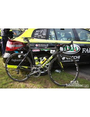 Farnese Vini-Selle Italia swapped their usual MCipollini RB1000 frames for the softer riding RB800 model at Paris-Roubaix.