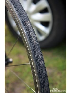 Dugast Paris-Roubaix tires for Farnese Vini-Selle Italia's Ursus carbon tubular rims.