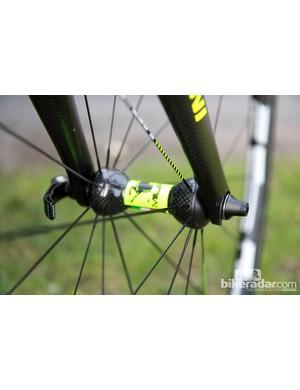 Farnese Vini-Selle Italia's Ursus wheels are built around carbon-bodied hubs.