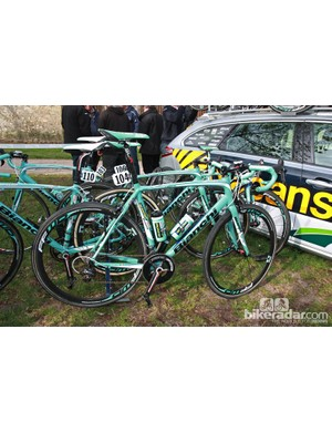 Vacansoleil-DCM riders were all on aluminum Bianchi Impulso bikes save for one rider on the Infinito model.