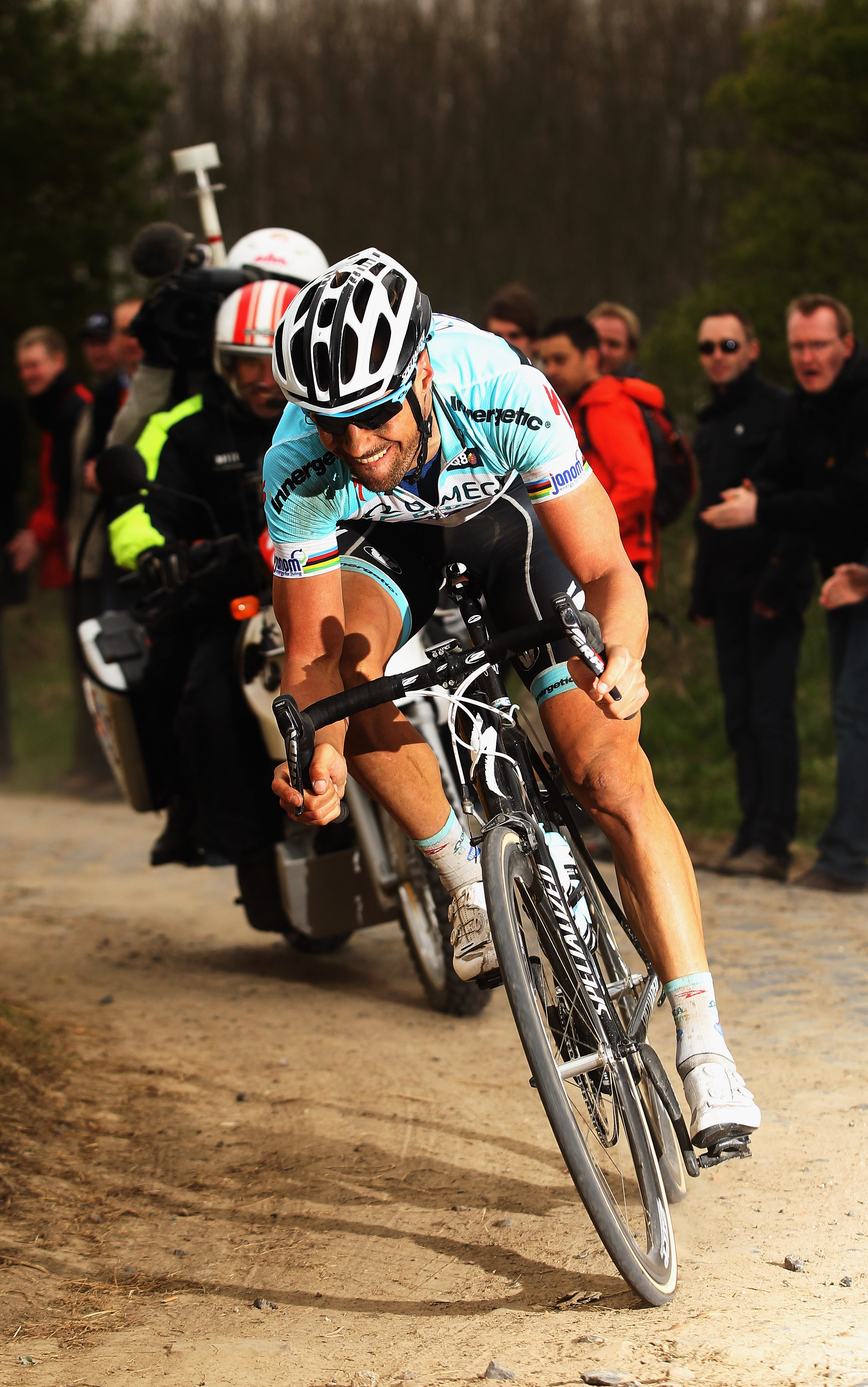 Boonen was out on his own for 52km before claiming his fourth Paris-Roubaix victory