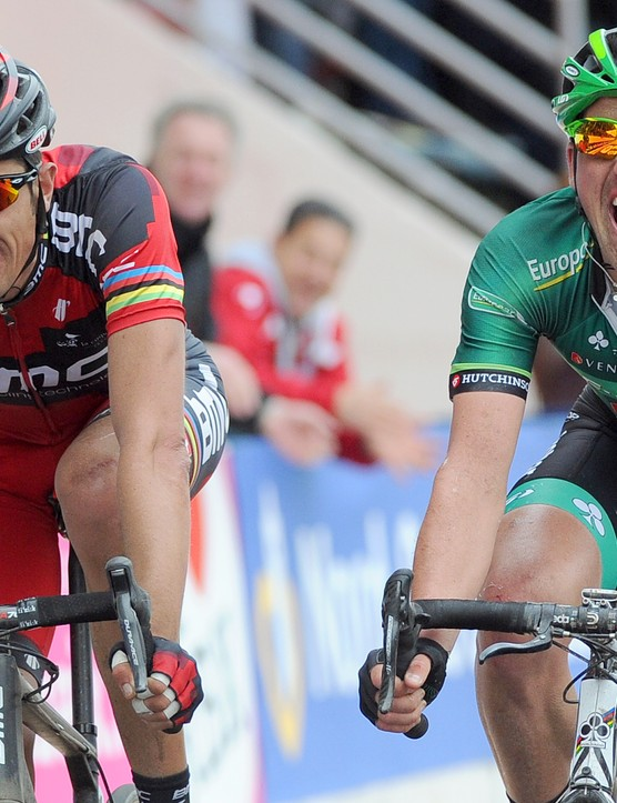 A hairsbreadth separated Turgot (Europcar) and Ballan (BMC) on the line