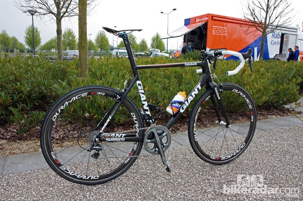 Lars Boom (Rabobank) rode this Giant TCX Advanced SL to a sixth-place finish at this year's Paris-Roubaix.
