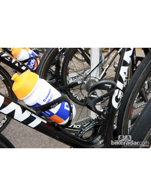 Standard Tacx Tao aluminum cages for Lars Boom (Rabobank).