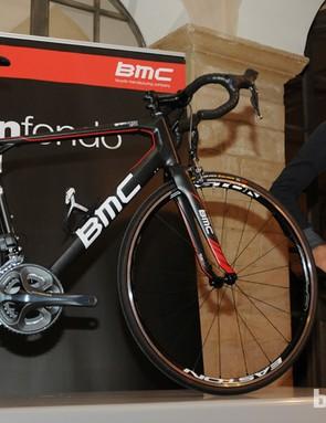 BMC team rider Thor Hushovd with the new BMC GranFondo GF01