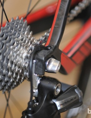 Wires are internally routed on the new BMC GranFondo GF01. Mechanical cables are externally run, though