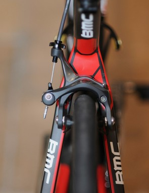 BMC will equip the new GranFondo GF01 complete bikes with 28mm-wide tires as standard equipment