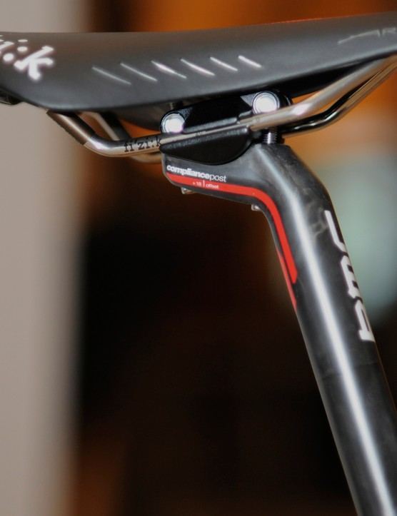 The 27.2mm-diameter carbon fiber seatposts will be offered in 3mm, 18mm, and 30mm offsets - each with specfically designed lay-ups to maintain a consistent ride quality