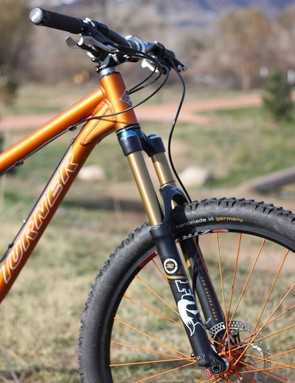 Our 5.Spot came equipped with Fox Float 32 150 RLC fork