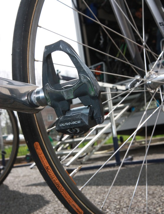 Carbon-bodied Shimano Dura-Ace SPD-SL pedals for Svein Tuft