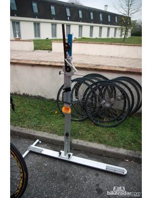 The bike measuring jig used by the Katusha team