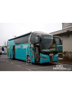 Astana's bus driver has to navigate this beast through tight European roads