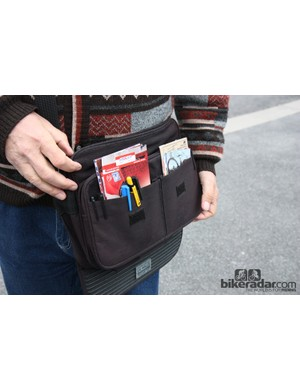 This fan keeps all of his rider cards in a shoulder bag – along with lots of pens