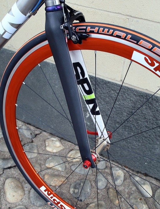 A carbon fork on the MK IIA