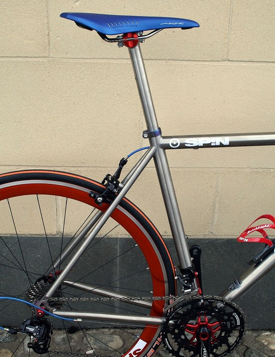 The seat tube angle is down 1/2º from the old version to 72.5º
