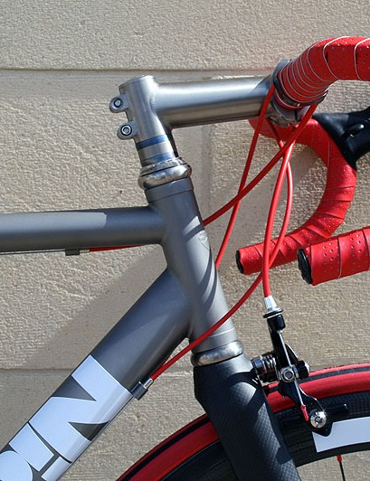 The racing orientated MK I has steeper angles than the sportive-friendly MK I, demonstrated here with a 73º head tube angle