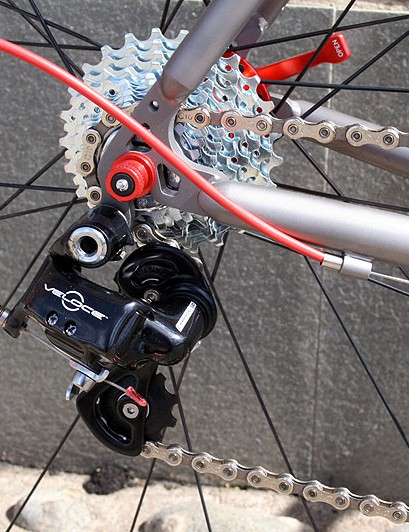 Campagnolo Veloce makes up the bulk of the MK I's groupset