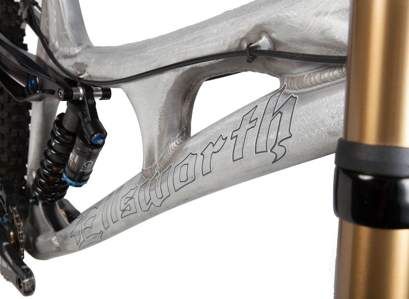 The monocoque top tube adds stiffness and increases standover clearances