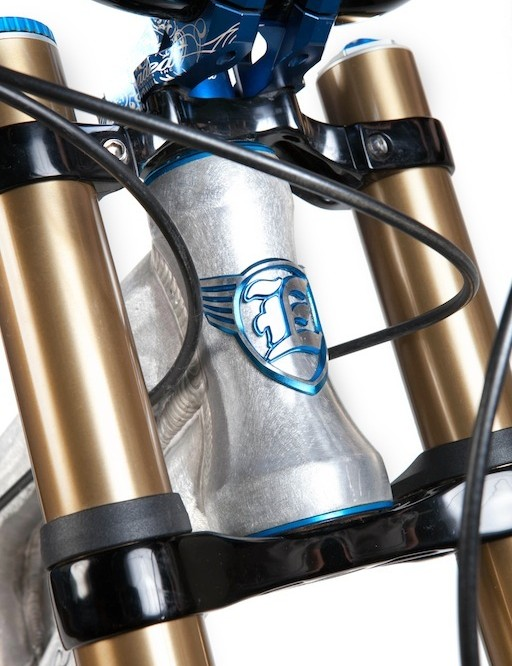 The new tapered head tube offers Cane Creek AngleSet compatibility