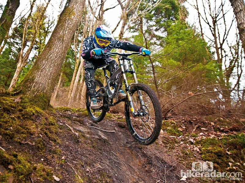 Wrecking Crew member Jake Ireland has been putting the new alloy GT Fury through its paces on his home trails in the Forest of Dean, Gloucestershire