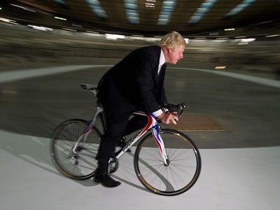 London Mayor Boris Johnson doesn't score highly in the cycle friendly stakes compared to his opposition