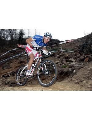 Julien Absalon (Orbea) en route to victory