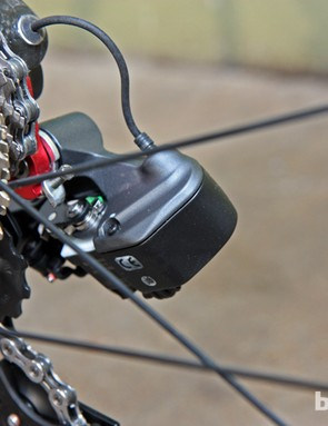 While admirable in terms of function, the rear derailleur is unmistakably bulky