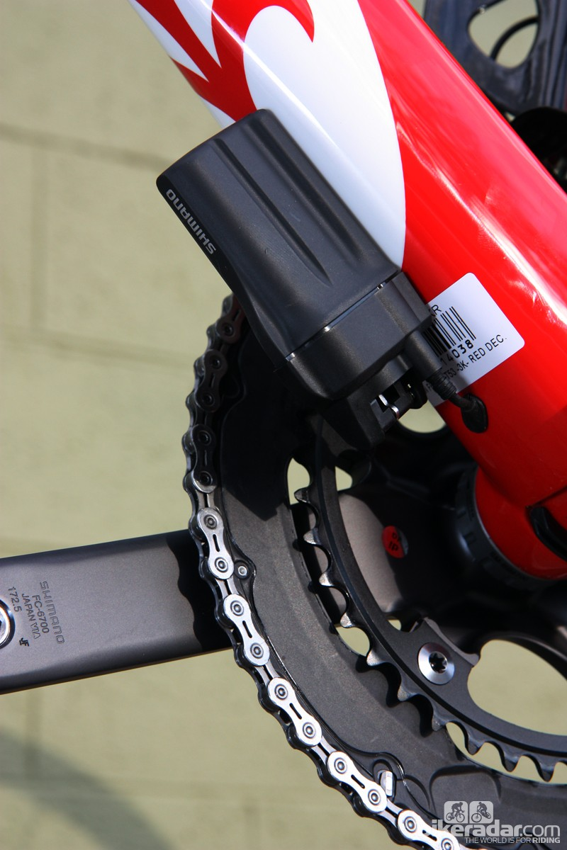 Shimano's Ultegra Di2 group uses the exact same battery as Dura-Ace Di2 – and it's similarly generous in terms of charge capacity