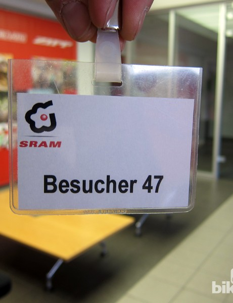 Not just anyone is allowed into the inner workings of SRAM's facility in Schweinfurt, Germany