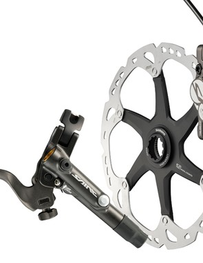 Shimano Saint M820 brakeset with standard RT81 Ice Tech rotor