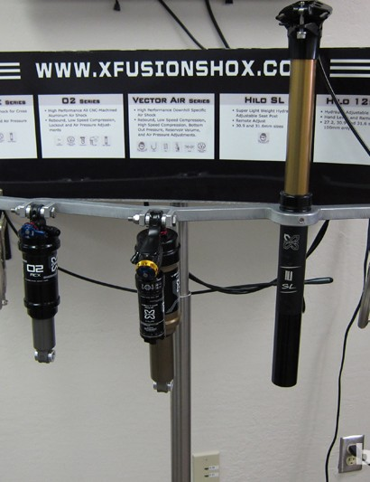 X-Fusion's 2013 air shocks and HILO seatposts