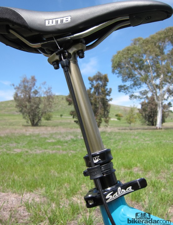 The new Fox DOSS dropper seatpost is fantastically smooth in operation and impressively slop free