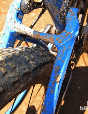 Tire clearance is generous out back on the new Giant Anthem X Advanced 29er