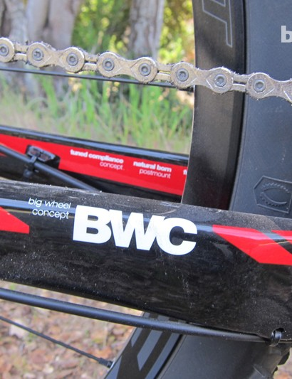BMC call their work on the bike's geometry BWC, or Big Wheel Concept