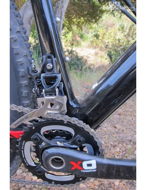 The direct mount front derailleur helps BMC offer relatively short 429mm chainstays