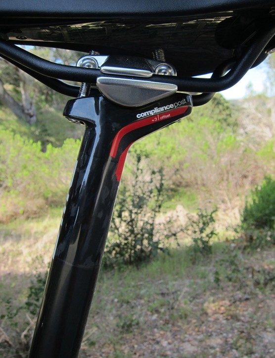 The BMC TCC seatpost is built to offer the same amount of flex with all three offsets: 3, 18 and 30mm
