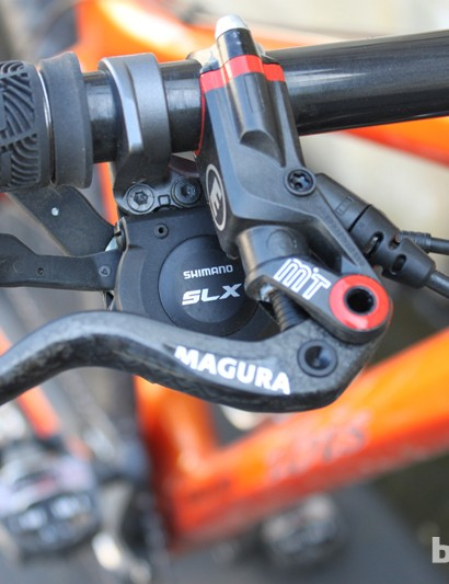 Lopes called out the Shimano SLX shifter for its one-gear-at-a-time downshifts