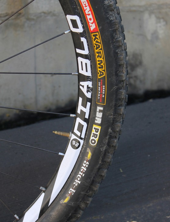 NovaTec's Diablo wheel and Kenda's stalwart Karma L3R Pro tire